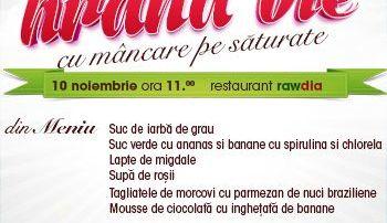 Atelier de gatit hrana vie cu mancare pe saturate, editia IV-Bucuresti