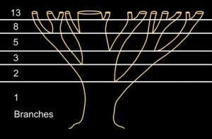Ramuri copac Fibonacci