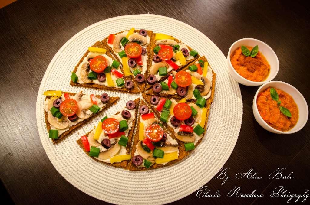 pizza raw vegan reteta