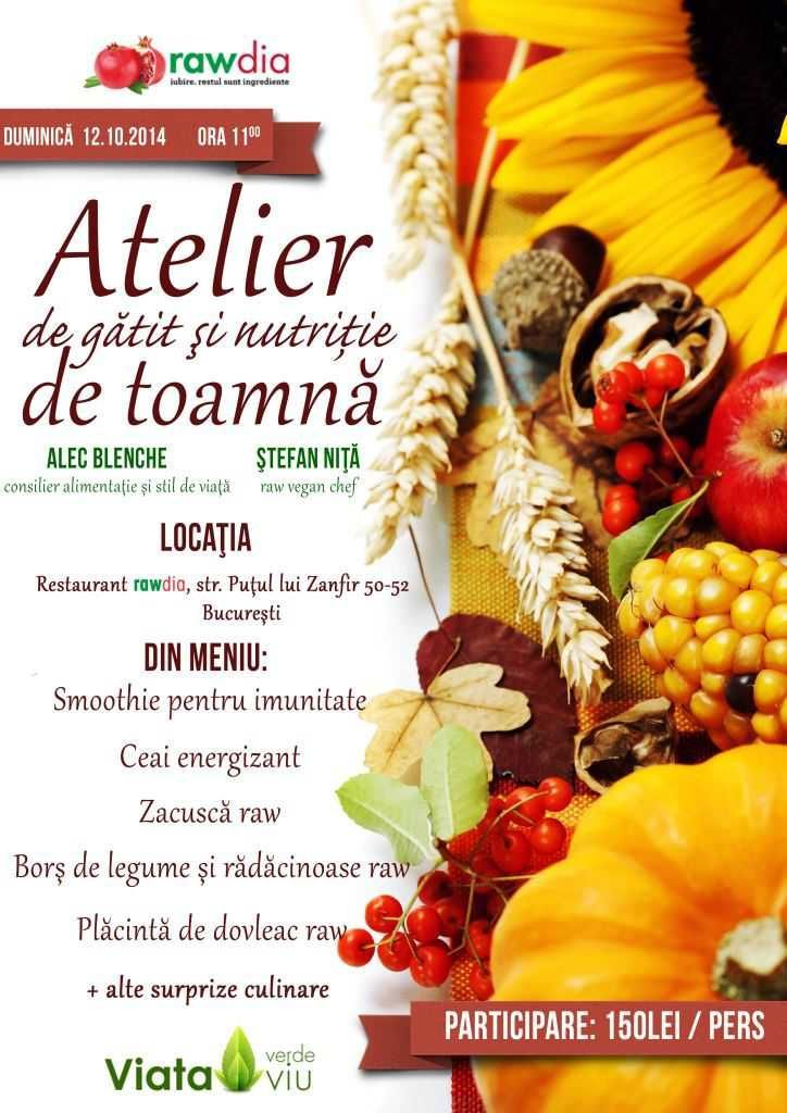 atelier toamna rawdia oct 2014 raw food