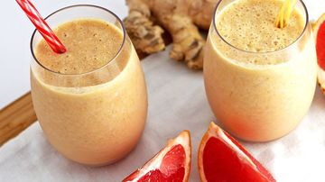 Smoothie antiinflamator cu ghimbir si grepfrut