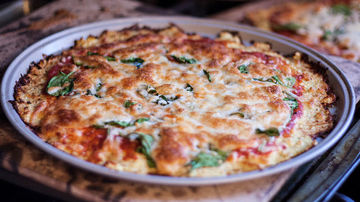 Blat de pizza din conopida si chia - delicios si sanatos