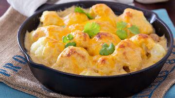 Conopidă la cuptor cu smântână şi mozzarella
