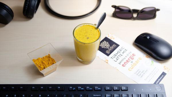 Turmeric Latte Mix - laptele auriu vegan cu beneficii de neegalat