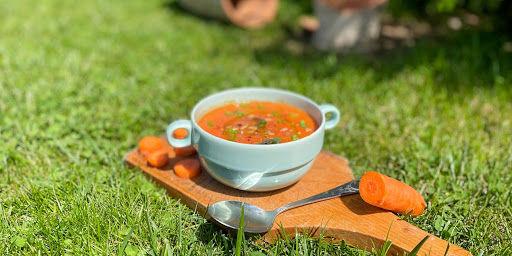 Supă cremă de sfeclă roșie și linte