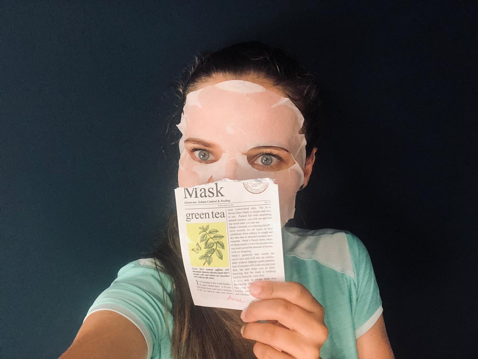 masca de fata cu ceai verde
