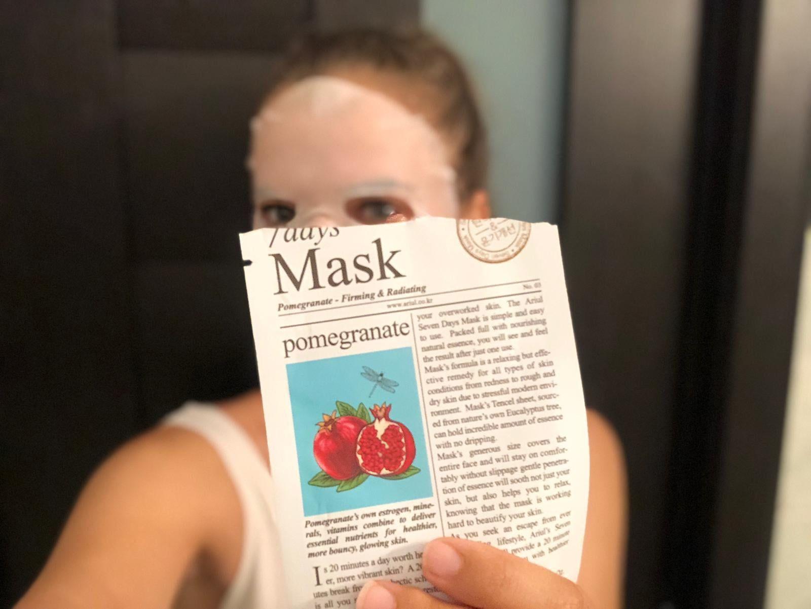 masca de fata cu rodie