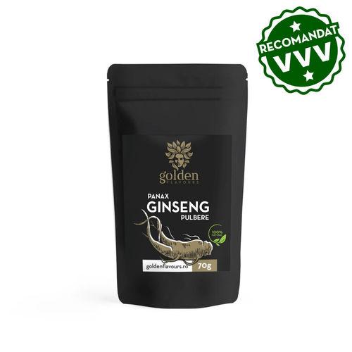 3+1 Gratis Ginseng Panax pulbere 100% naturală, 70g | Golden Flavours