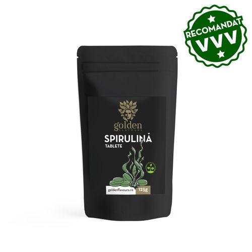 3+1 Gratis Spirulină Tablete 100% Naturale, 125g/250 tablete   Golden Flavours