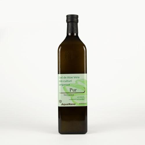 Aloe-Pur Gel Organic de Aloe Vera, Fără Pulpă, 1000ml | AquaNano