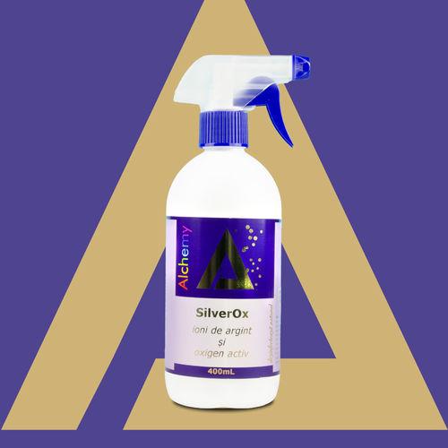 SilverOx Spray Igienizant suprafețe cu Argint Ionic și Oxigen Activ 400ml | Pure Alchemy