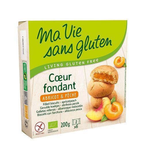Biscuiți Fără Gluten cu Cremă de Caise și Piersici, 200g   Ma vie sans gluten