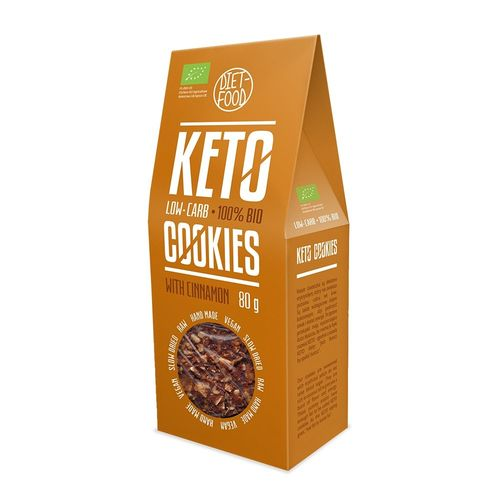 Fursecuri Keto Raw Vegane cu Scorțișoară, 80g   Diet-Food