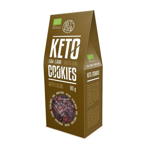 Fursecuri Keto Raw Vegane cu Cacao, 80g | Diet-Food