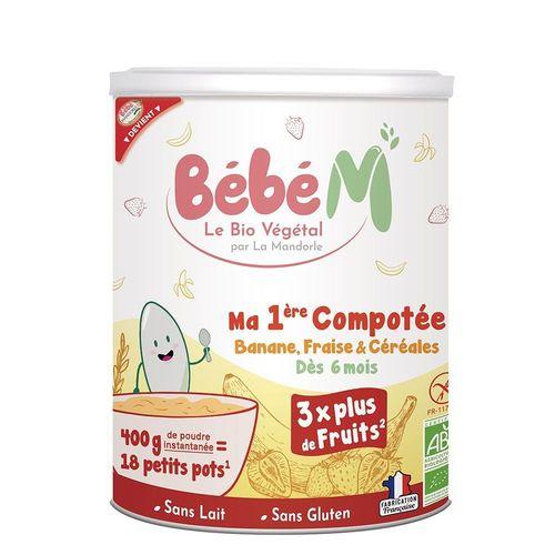 Piure de Fructe cu Cereale Pentru Bebeluși - de la 6 luni, 400g | La Mandorle