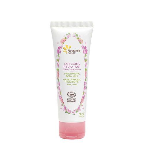 Lapte de corp hidratant cu trandafiri 50ml - format travel | Fleurance Nature