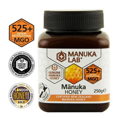Miere de Manuka, MGO 525+ Noua Zeelandă Naturală, 250g | MANUKA LAB