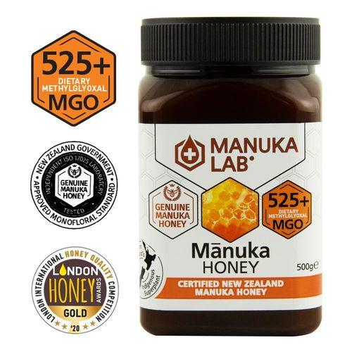 Miere de Manuka, MGO 525+ Noua Zeelandă Naturală, 500g   MANUKA LAB
