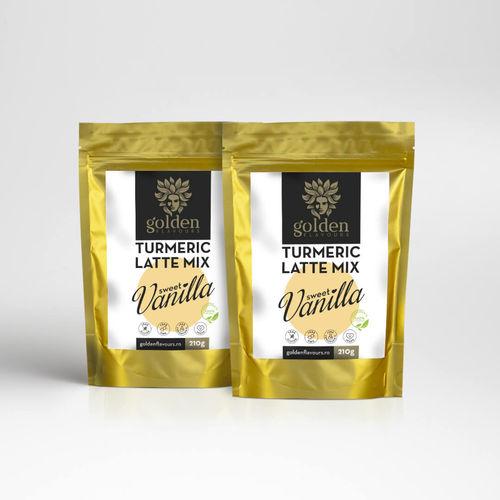 Pachet 2 x Turmeric Latte Mix Sweet Vanilla 210g | Golden Flavours
