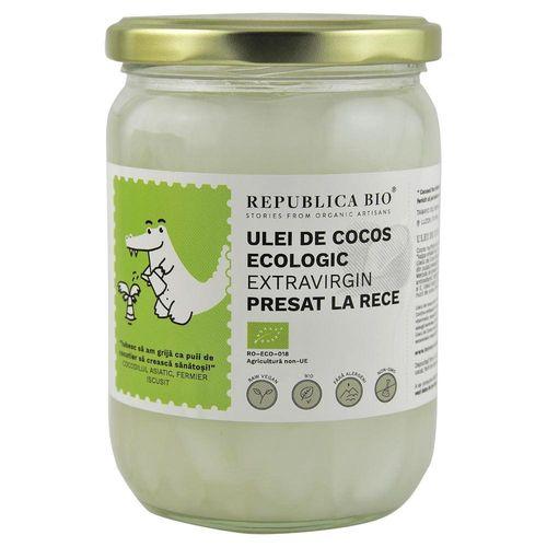 Ulei de Cocos Extravirgin - Presat la Rece Bio, 500ml | Republica BIO