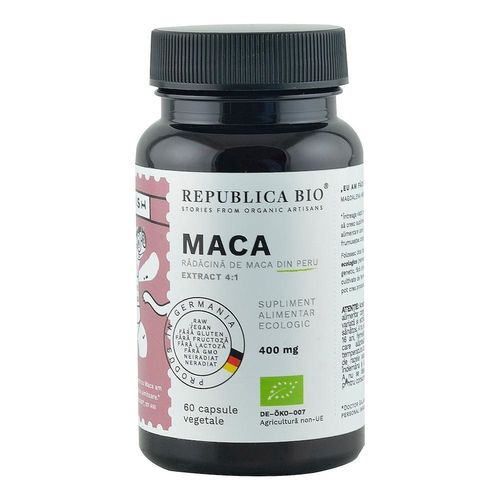 Maca Ecologică Extract 4:1, 60 capsule | Republica BIO