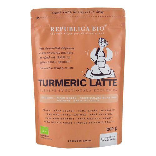 Turmeric Latte, Pulbere Funcțională Ecologică, 200g | Republica BIO