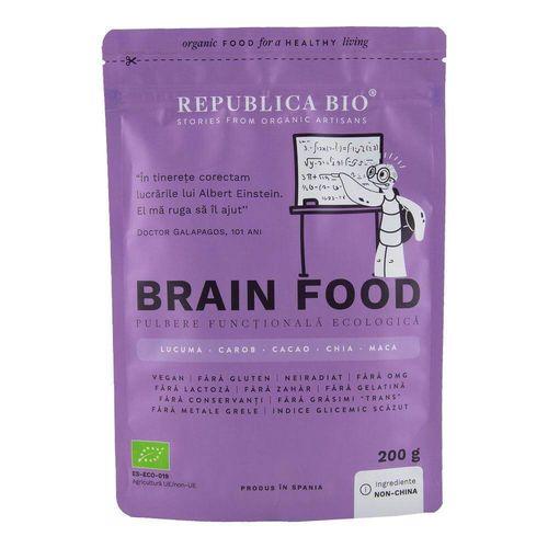 Brain Food, Pulbere Funcțională Ecologică, 200g | Republica BIO