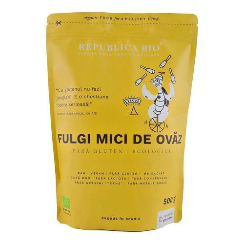 Fulgi Mici de Ovăz Fără Gluten Ecologici, 500g | Republica BIO