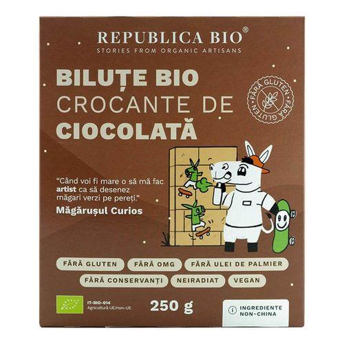 Biluțe Bio Crocante de Ciocolată Fără Gluten, 250g   Republica BIO