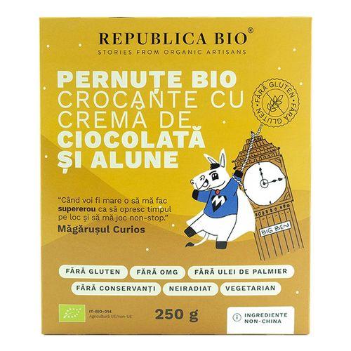 Pernuțe Bio Crocante cu Cremă de Ciocolată și Alune Fără Gluten, 250g | Republica BIO