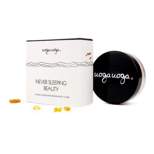 Neversleeping Beauty SPF 15: Fond de ten pudra vegan, natural cu chihlimbar | Uoga Uoga