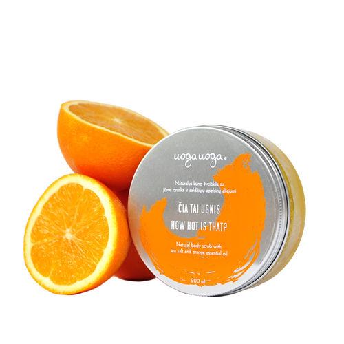 How hot is that: Scrub vegan de corp cu sare de mare si ulei esential de portocale   Uoga Uoga