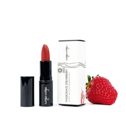 Passionate Strawberry: Ruj natural cu extract de capsune   Uoga Uoga