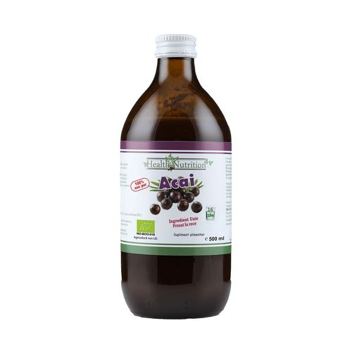 Suc de Acai 100% Pur, Bio, 500ml | Health Nutrition