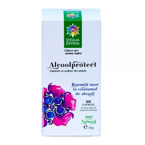Alcoolprotect 500mg,  60 capsule | Steaua Divină