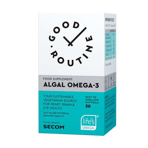 Algal Omega-3 Good Routine, 30 capsule moi | Secom