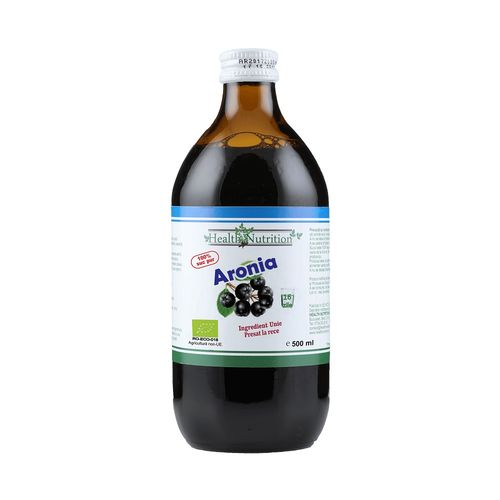Suc Aronia 100% Pur, Bio, 500ml | Health Nutrition