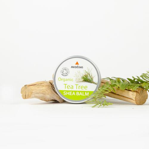 Balsam de Corp Organic cu Unt de Shea și Arbore de Ceai, 50ml | Meadows Aroma
