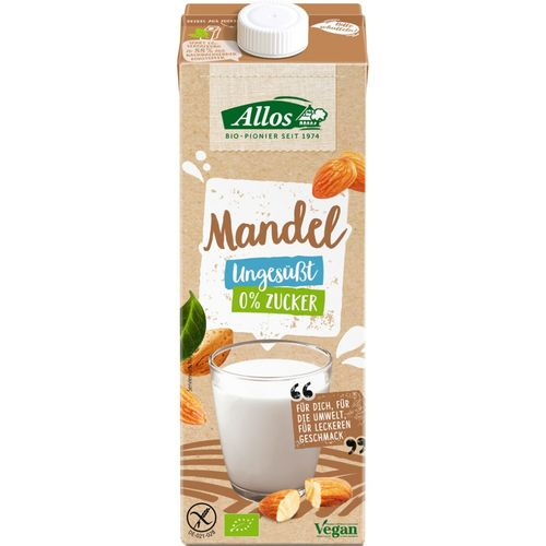 Băutură de Migdale eco/bio, fără gluten și fără zahăr, 1L   Allos