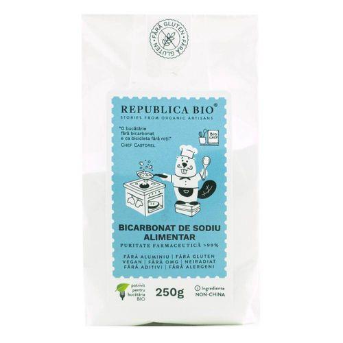 Bicarbonat de Sodiu Alimentar Fără Aluminiu, Fără Gluten Natural, 250g | Republica BIO