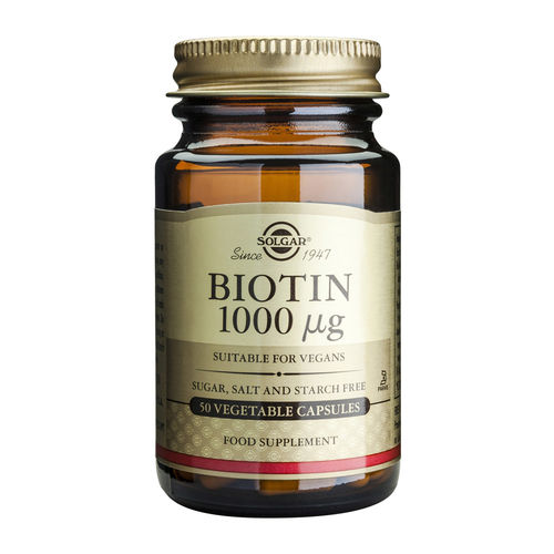 Biotin 1000mcg, 50 capsule vegetale | Solgar