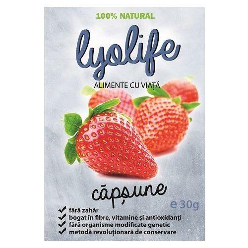 Căpșune - Fructe Liofilizate, 30g | LyoLife