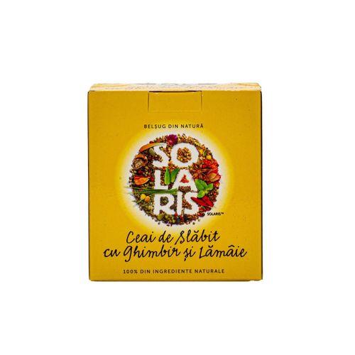 Ceai de Slăbit cu Ghimbir și Lămâie, 20dz | Solaris