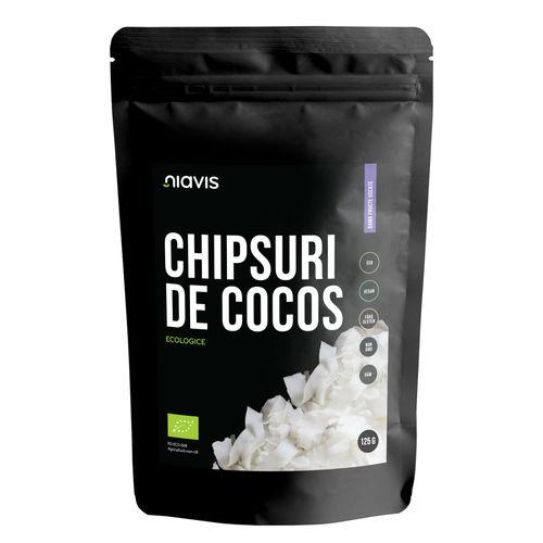 Chipsuri de Cocos Raw Ecologice 125g   Niavis