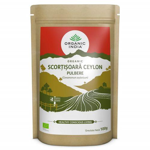 Scorțișoară Ceylon Pulbere, 100% Organic, 100g  | Organic India