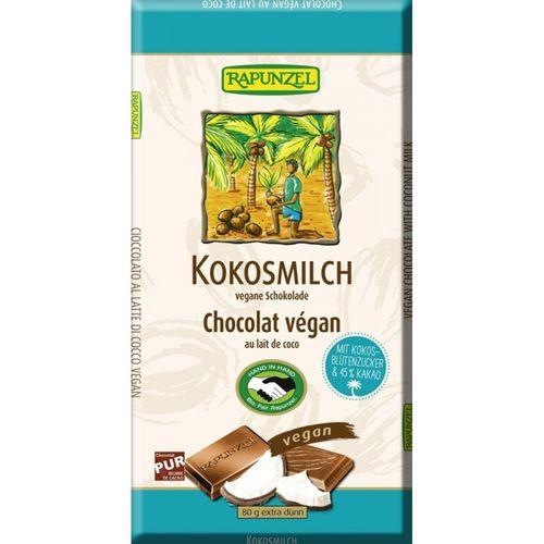 Ciocolata cu lapte de cocos 80g | Rapunzel