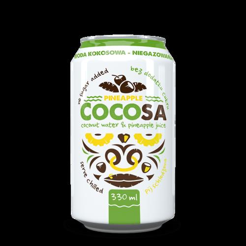Cocosa Ananas - Apă de Cocos Naturală cu Ananas, 330ml   Diet-Food