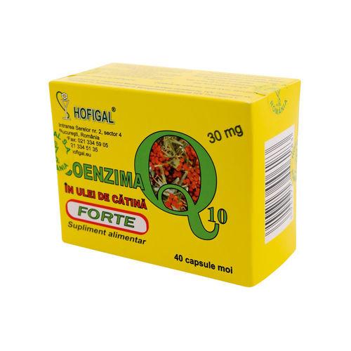 Coenzima Q10+Ulei de Cătină Forte 30mg, 40cps | Hofigal