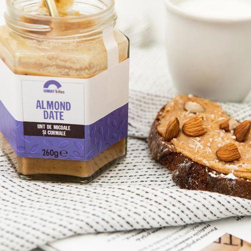 Unt de migdale și curmale Almond Date, 100% natural, 260 g | Sunday bites