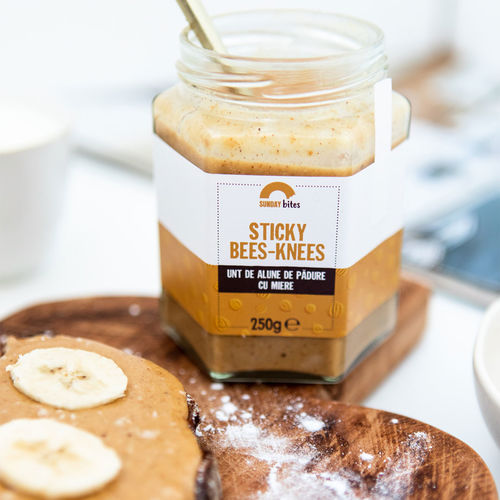 Unt de alune de pădure cu miere Sticky Bees-Knees, 100% natural, 250 g | Sunday bites
